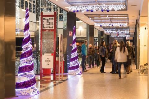 Decoración navideña centros comerciales